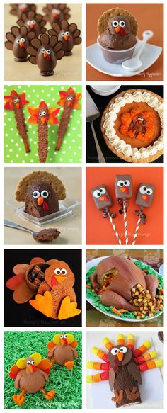 Serve up some fun this Thanksgiving by making some cute Turkey shaped treats. See all the tutorials to makes these festive desserts at HungryHappenings.com.