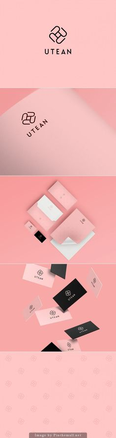 Utean by 60 degrees / brand identity >> not entirely a fan of the mark… Brand Identity Design, Graphic Design Branding, Corporate Design, Typography Design, Logo Design, Corporate Identity, Visual Identity, Business Branding, Business Card Logo