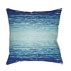 Blue Reflection Outdoor Pillow