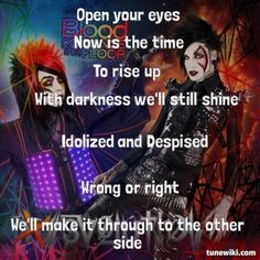"-- #LyricArt for ""Rise & Shine - feat. Deuce"" by Blood On The Dance Floor"