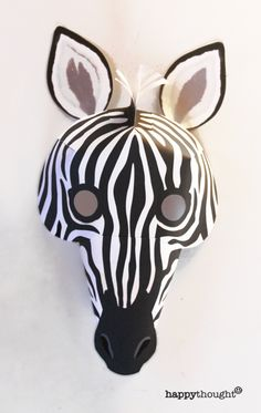 Yes! Print and make your own Zebra mask with this fab and easy template at https://happythought.co.uk/product/printable-wild-animal-masks