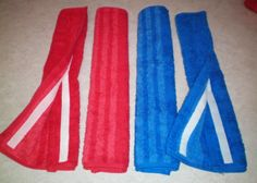 Hand Towel Seat Belt Covers, easy to make. For baby car seat straps.