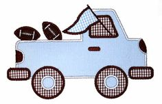 Pregame Pickup Truck Applique Design-football, school spirit, auburn, alabama, pregame truck, tailgate.from applique frenzy