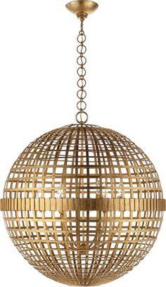 Aerin Lauder Circa Lighting | Mill Ceiling Light | Gold Pendant Lighting