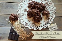 chocolate peanut butter oatmeal no bake cookie recipe
