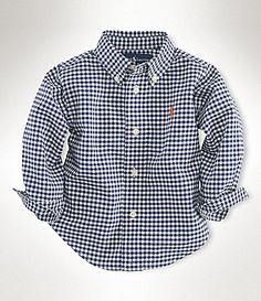 Ralph Lauren Childrenswear Infant Gingham Blake Shirt #Dillards
