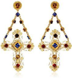 DOLCE & GABBANA Cross Clip Earrings
