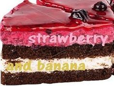 Τούρτα φράουλα - μπανάνα Greek Recipes, Party Time, Strawberry, Food And Drink, Banana, Sweets, Sugar, Cookies, Cake