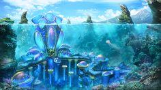 Underwater city of Mosk. SolarWind by Igor Golyuk | Matte Painting | 2D | CGSociety