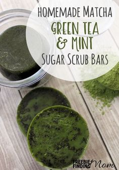 Want to treat your skin to a well-deserved pampering? These All Natural Homemade Matcha Green Tea and Mint Sugar Scrub Bars will gently exfoliate and clean your skin, leaving your skin feeling hydrated, smooth and soft plus your skin will get to reap all