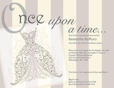 image result for fairytale bridal shower invitations princess bridal showers disney bridal showers princess