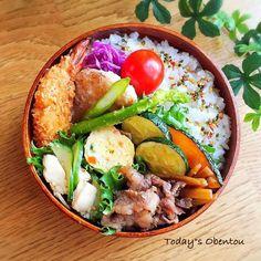 高校生男子弁当 Bento Recipes, Healthy Recipes, Japanese Lunch, Bento Box Lunch, Food Is Fuel, Cafe Food, Food Presentation, I Love Food, Asian Recipes