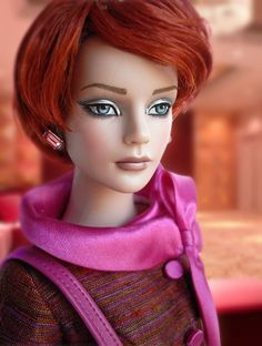 #dollchat Nu Mood Sydney: Nu Mood Sydney Chase (2012)outfit  Avenue Attitude (2008), Jagged cut flame red wig (2012)