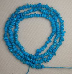"Sleeping Beauty Turquoise Gemstone Chip Beads Blue 18"" Delicate Grade AA Lot 883 #SleepingBeauty #Southwest"