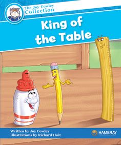 $5.95 King of the Table - Part of the Blue Series: Computer is away being fixed. Now Ruler thinks he is king of the table!