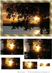 Zonsondergang Bij Daling