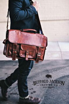 Amazing collection of rugged men's leather and canvas bags. Impressive quality and attention to detail. messenger bags | duffle bags | travel bags | camera bags | laptop bags | briefcase bags Briefcase For Men, Leather Briefcase, Leather Men, Leather Bags, Fashion Boots, Mens Fashion, Casual Professional, Understanding Men, How To Gain Confidence