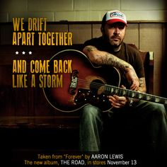 "Aaron Lewis Lyric Card for ""Forever"" new single from THE ROAD"
