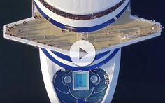 Vídeo del Crown Princess desde Drone, con inesperado final al llegar la policia