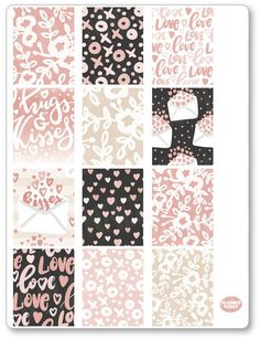 XOXO Full Boxes Planner Stickers