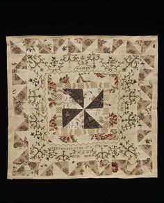 Bed cover c.1786 - Victoria and Albert Museum, included in Queensland Art Gallery's 'Quilts 1700-1945' Exhibition
