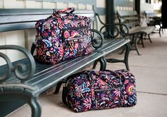 Iconic Weekender Travel Bag in Foxwood Iconic Medium Travel Duffel in Foxwood Vera Bradley Luggage, Vera Bradley Backpack, Duffel Bag, Weekender, Travel Luggage, Travel Bags, Luggage Accessories, Totes, Addiction