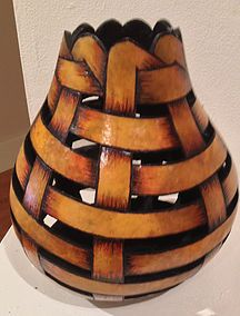 Gourd art, gourd sculpture, gourds, hawaiian gourd                                                                                                                                                      More