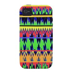 """!/2 off today!!!!!!!!!!!!!!!!!! -code """"mondaycase72"""" ZiGzAg AbStRaCt AzTeC ablaze in CoLoR Vibe iPhone 4 Covers @Louise-clémence Grenier.com @Zazzle Man @yourdailycup"""