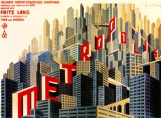 Incredible typography and cityscape illustration in this poster for the film Metropolis. Design by Russian costume designer Boris Bilinsky, 1926.