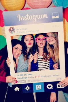 Glam Instagram Themed 13th Birthday Party via Kara's Party Ideas…                                                                                                                                                                                 More