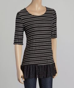 Love this Simply Irresistible Black & White Stripe Knit Sweater by Simply Irresistible on #zulily! #zulilyfinds