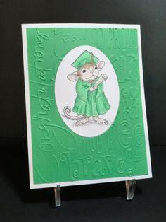 "Graduation card (2014).  House Mouse Designs stamp ""Graduate""."