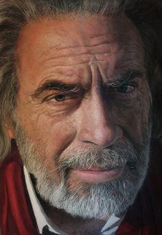 Obra de Rubén Belloso: Maurizio  chalk pastel painting...Spanish painter