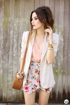 FashionCoolture - 23.05.2015 look du jour iclothing floral skirt nude outfit (2)