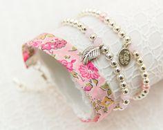 Liberty Silver Bracelet Trio - Tatum Pale Pink