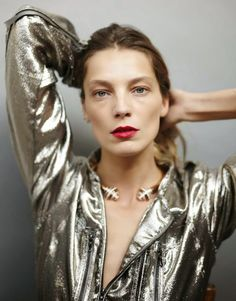 Daria Werbowy for Marie Claire Russia May 2014 Styled by Anna Rykova Photographed by Mathieu Cesar