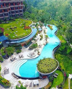 25 Best Indonesia Tourism Objects for Your Itinerary: Padma Resort Ubud Beach Resorts, Hotels And Resorts, Luxury Hotels, Beautiful Hotels, Beautiful Places, Ubud Bali, Ubud Indonesia, Resort Plan, Landscape Architecture Design