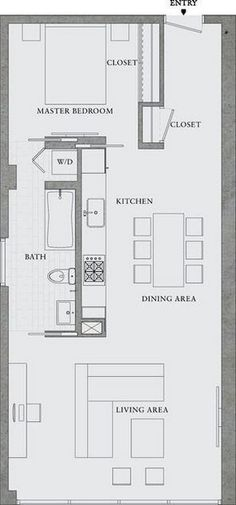 Excellent Image of Small Apartment Plans Layout . Small Apartment Plans Layout Great Simple Design Would Also Make A Great Rental Property 8 Garage Apartments, Small Apartments, Small Spaces, Studio Apartments, Layouts Casa, House Layouts, Small Apartment Plans, Small Apartment Layout, Container Houses