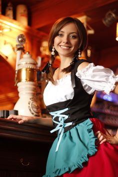 Halloween Dirndl - German Bavarian Bustier Beer Maid Outfit - Oktoberfest Dress | Heidi's Closet - Luxury German Dirndl Dresses