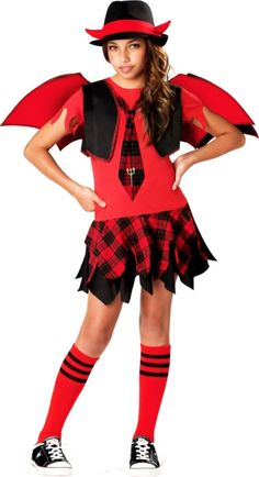 Girls Delinquent Devil Costume - Party City
