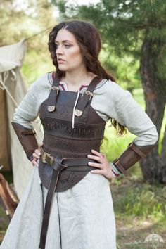 "Leather Women's Armor ""Shieldmaiden"""