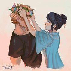 #adrienette #miraculous  I will crown you Owen..my love