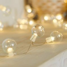 50 Clear Bauble Micro Fairy Lights | Lights4fun.co.uk Led, Twig Tree, Pile Aa, Decoration Table, Decorations, Fairy Lights, Unique Gifts, Display, Bauble