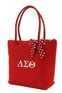 I should probably add this to my collection :-). What Is A Delta, Delta Sigma Theta Apparel, Greek Gifts, Delta Girl, Quilted Tote Bags, Sorority Life, Medium Tote, My Collection, Fraternity