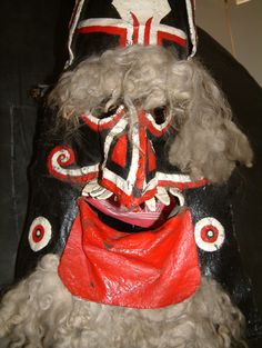 vintage obby oss (padstow) mask