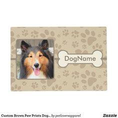 Custom Brown Paw Prints Dog Mat