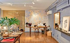 Calico Wallpaper at Rosanne Pugliese's Brooklyn Brownstone Jewelry + Lifestyle Shop