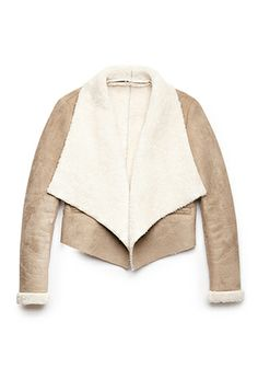 Warm Faux Shearling Bomber Jacket   FOREVER21 - 2000071368