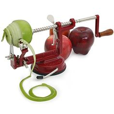 Amazon.com: Johnny Apple Peeler by VICTORIO VKP1010, Cast Iron, Suction Base: Kitchen & Dining