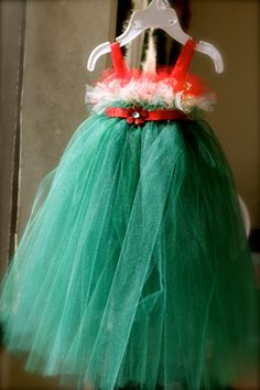 Christmas Tutu Holiday Dress With Red White - This is cute too